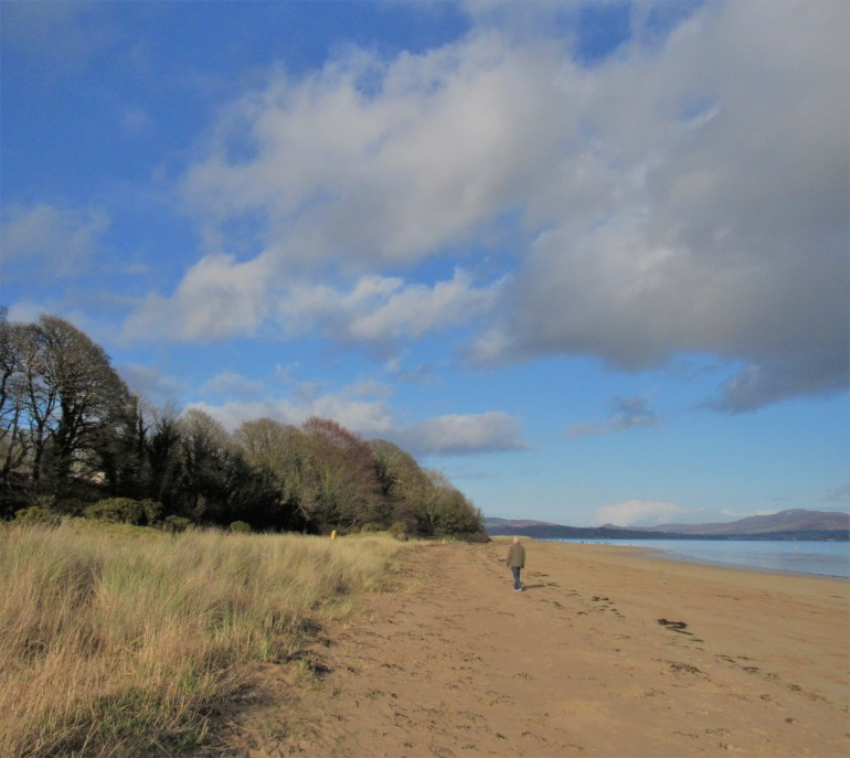 a walk along Rathmullan Beach
